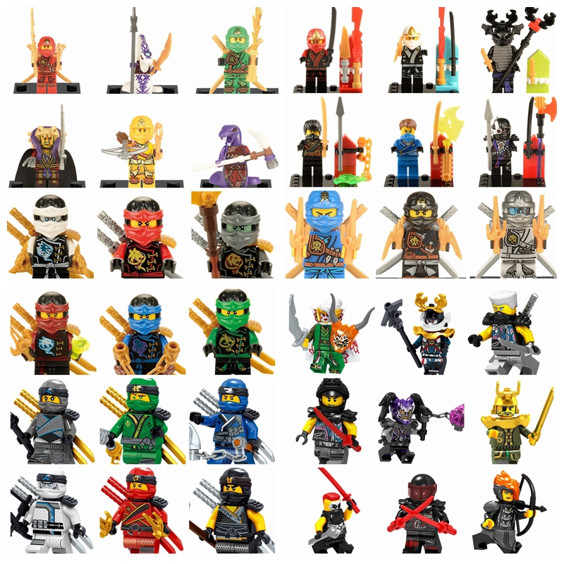 lego ninjago minifigures building blocks single sale