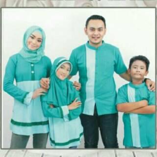 ZAID ZAIDAH Seragam branded Couple muslim Sarimbit Baju keluarga Koko Gamis Ayah Ibu Anak murah baru