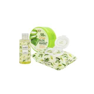 [BIG SALE 3pcs] Aloe Soothing Gel+Healing herb Lip&Eye Makeup Remover+Cleansing Tissue thumbnail