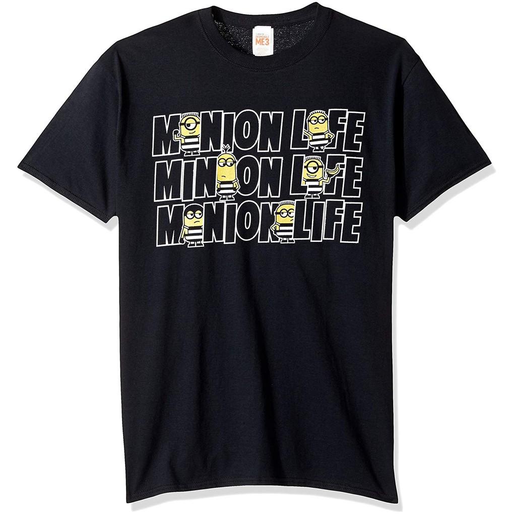 Kaos T Shirt Motif Tulisan Graphic Despicable Me Dm3 Minion Life Jail Waist Lucu