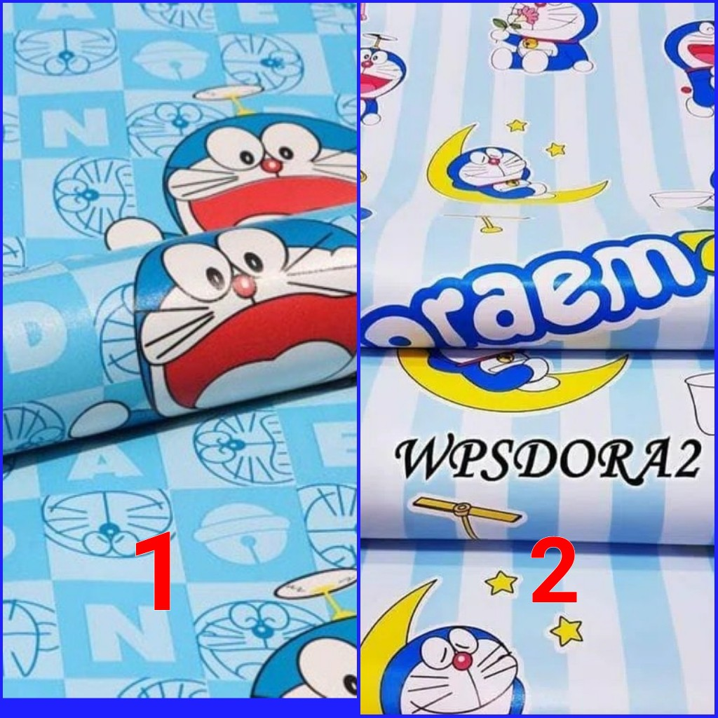 Wallpaper Dinding Sticker Doraemon 45cmx10m