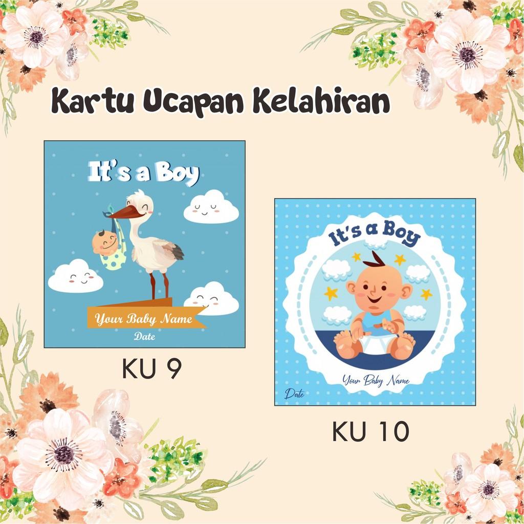 kartu ucapan lahiran kelahiran bayi newborn baby rp 435 ...