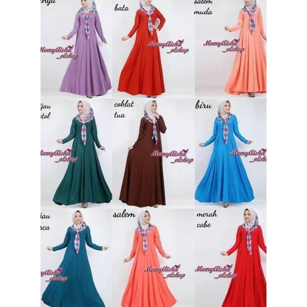 Super Sale Baju Gamis Wanita Gamis Jersey Gamis Jersey Polos Gamis Super Shopee Indonesia