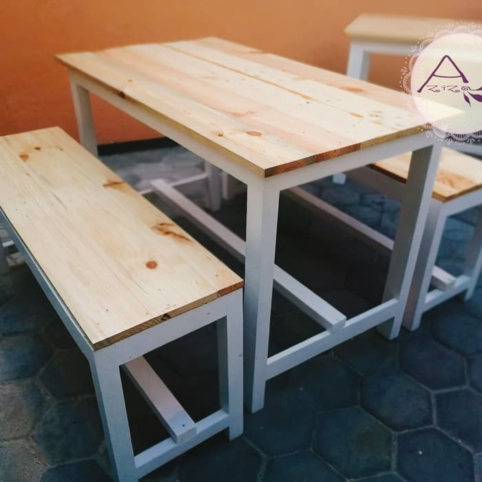 Meja Kursi Kafe 1set Kayu Jati Belanda Meja Kafe Resto Warkop Shopee Indonesia