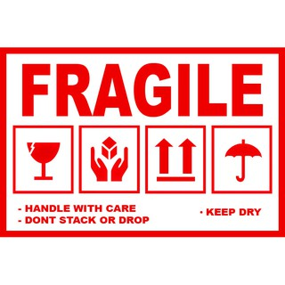 sticker fragile 4x6 cm stiker pengaman paket pecah belah jangan dibanting shopee indonesia sticker fragile 4x6 cm stiker pengaman paket pecah belah jangan dibanting