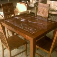 Meja Cafe Jati Furniture Meja Kursi Nakas Lemari Dipan Bufet