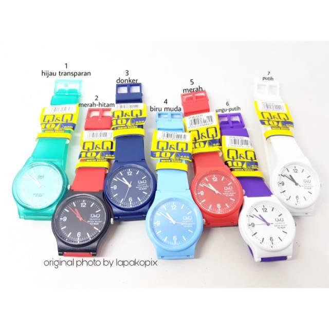 Jam tangan original QNQ QQ Q&Q Q Q vp46 vp46j biru transparan murah | Shopee Indonesia