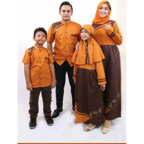 D02 | Couple seragam keluarga sarimbit muslim baju gamis koko ibu ayah anak terbaru branded murah | Shopee Indonesia
