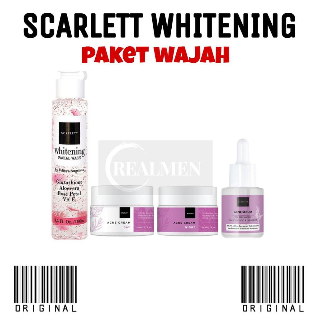 BPOM SCARLETT WHITENING PAKET WAJAH ORIGINAL / PERAWATAN WAJAH SCARLETT x1
