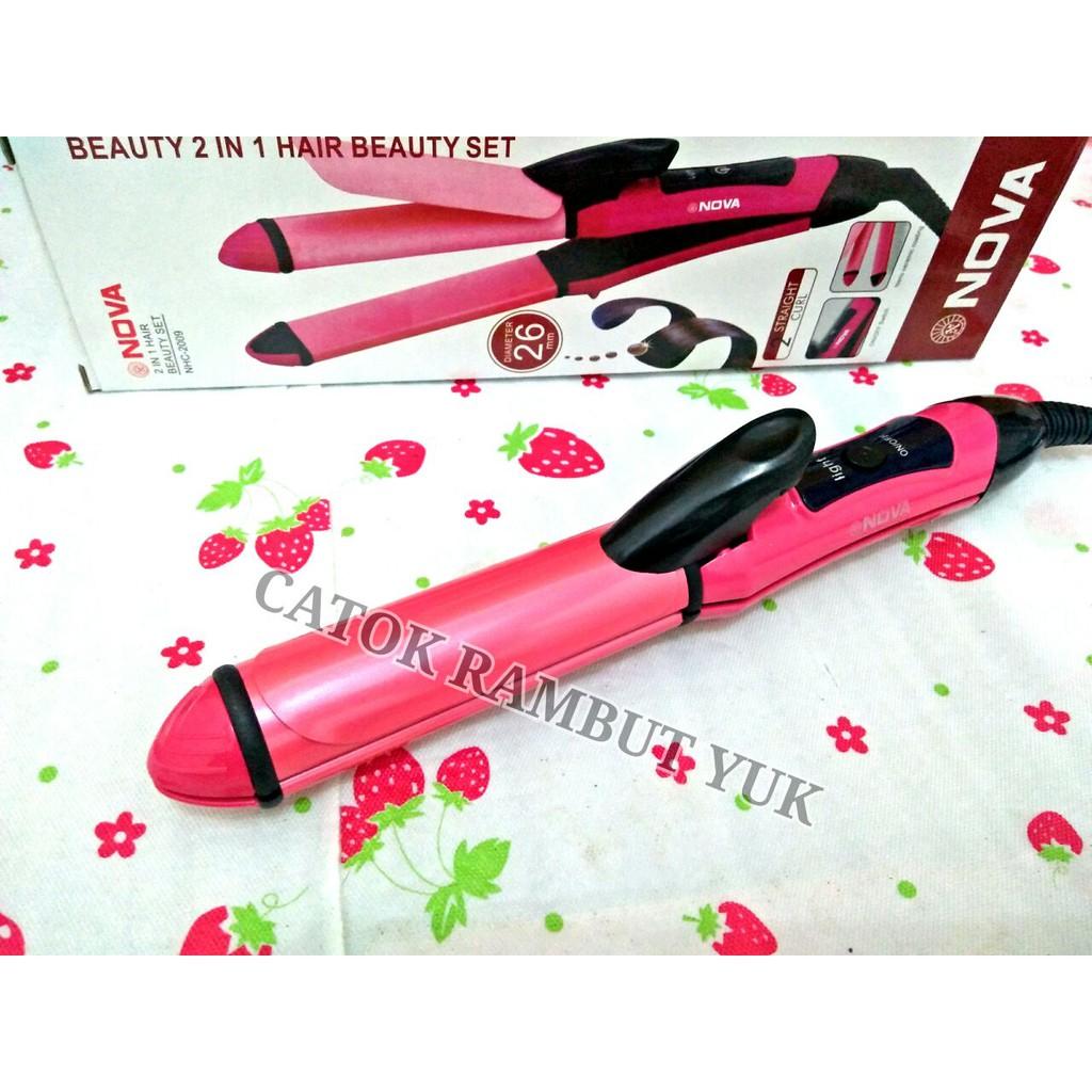 Catok Kemei Mini 2in1 Km 2116 Curl Straight Hair Beauty Set 2 In 1 Catokan Keriting Lurus Curly Iron Shopee Indonesia