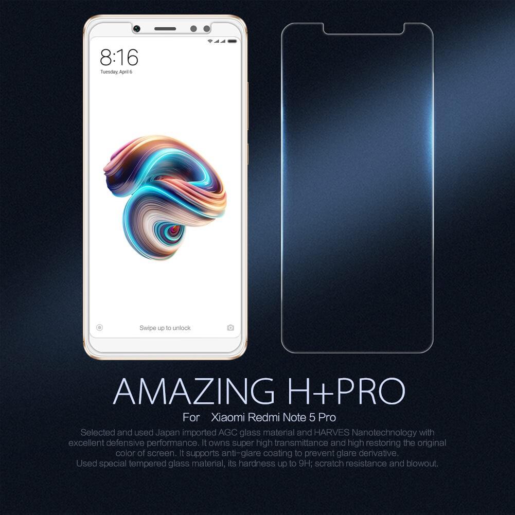 Anti Gores Tempered Glass Xiaomi Redmi Note 5 / Note 5 Pro 5.99 Inch - NILLKIN Amazing H Plus Pro   Shopee Indonesia