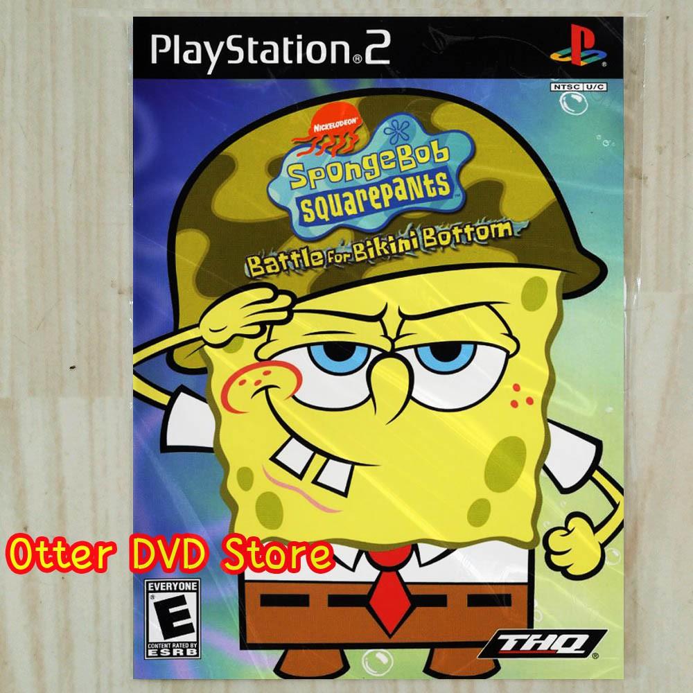 Kaset Game Ps2 Ps 2 Spongebob Squarepants Battle For Bikini Bottom Shopee Indonesia