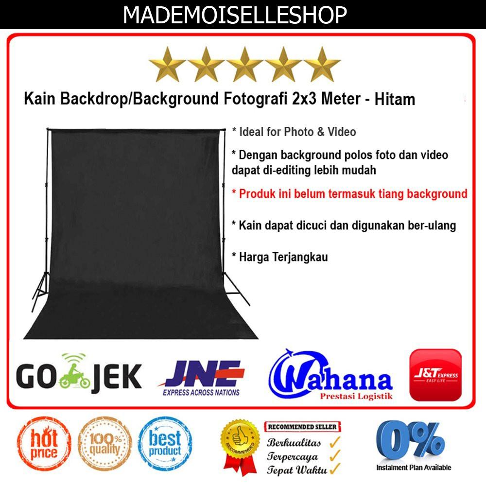 TERBARU Kain Background/Backdrop Studio Fotografi 2x3 Meter - Hitam DISKON | Shopee Indonesia