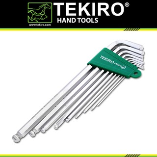 KUNCI L SET BALLPOINT 9 PCS PANJANG TEKIRO / 9 PCS BALL POINT HEX KEY LONG SET