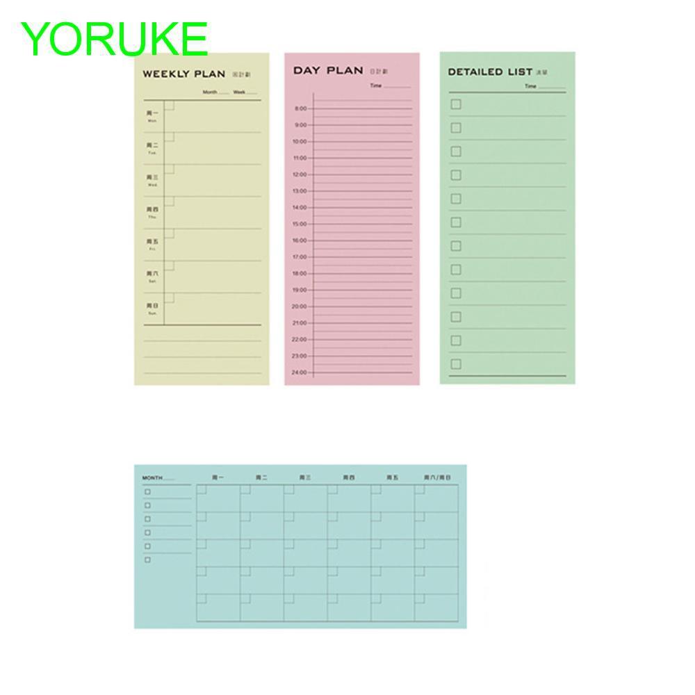 Day Plan Week Plan Month Detailed List Notepad Daily Memos Planner
