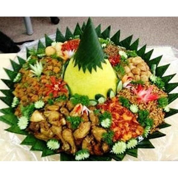Nasi Tumpeng Utk 10 Orang Uk 45 Cm Halal Enak Buat Arisan Ultah Dll Shopee Indonesia
