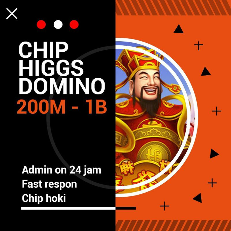 Chip higgs domino Island 100M-1B / chip domino 24 jam