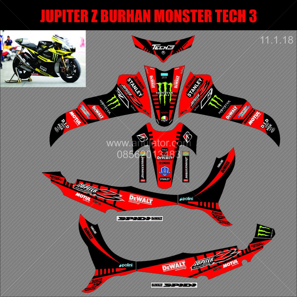 Sticker motor striping motor decal motor yamaha jupiter z 2008 dc shoes shopee indonesia