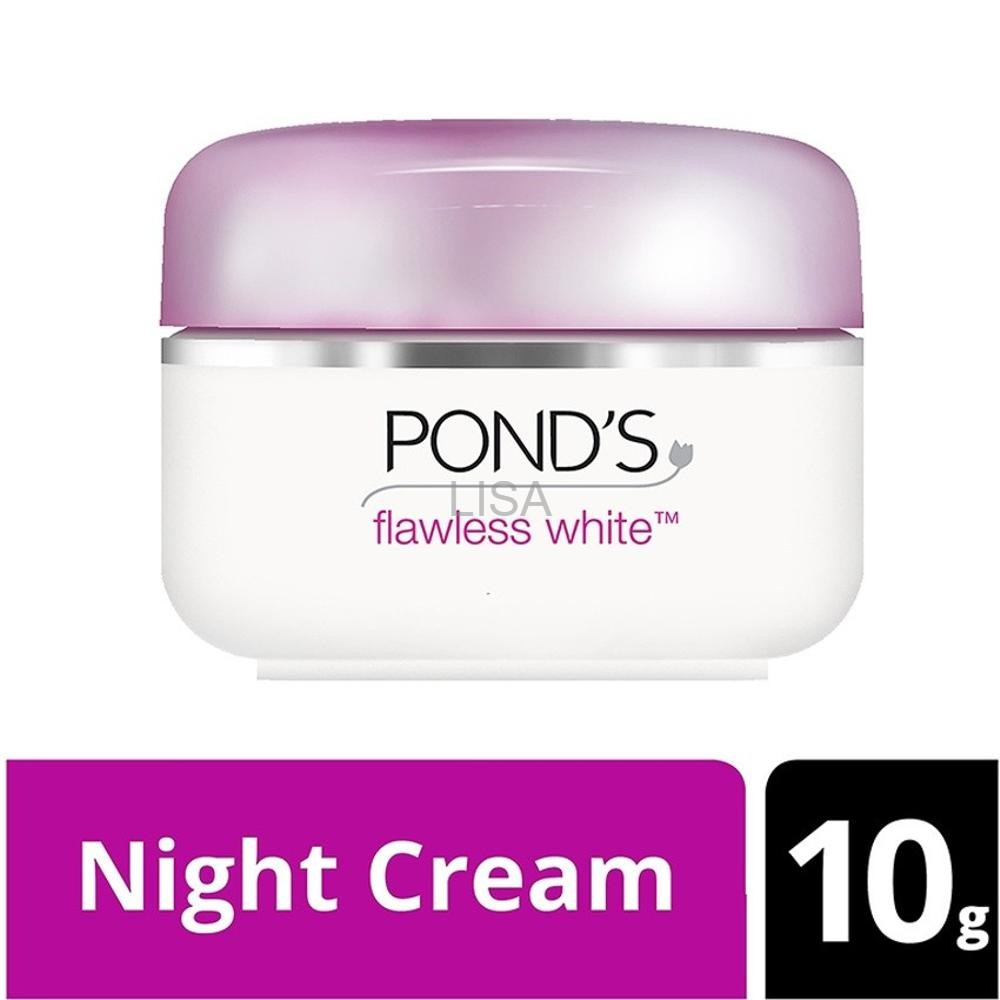Ponds Flawless White Day Night Cream 10gr 10 Gr 10g Shopee Indonesia Flawles