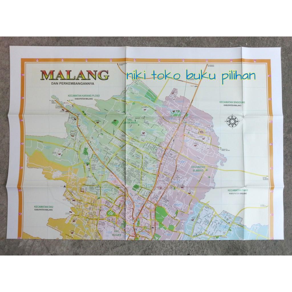 Peta Kota Malang Dan Perkembangannya Lipat Shopee Indonesia