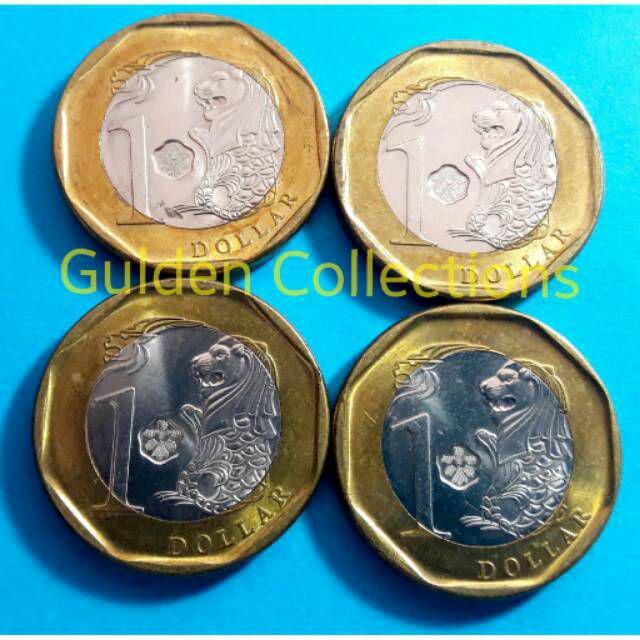 Gambar Uang Koin Singapura Uang Singapore 1 Dollar Koin Shopee Indonesia