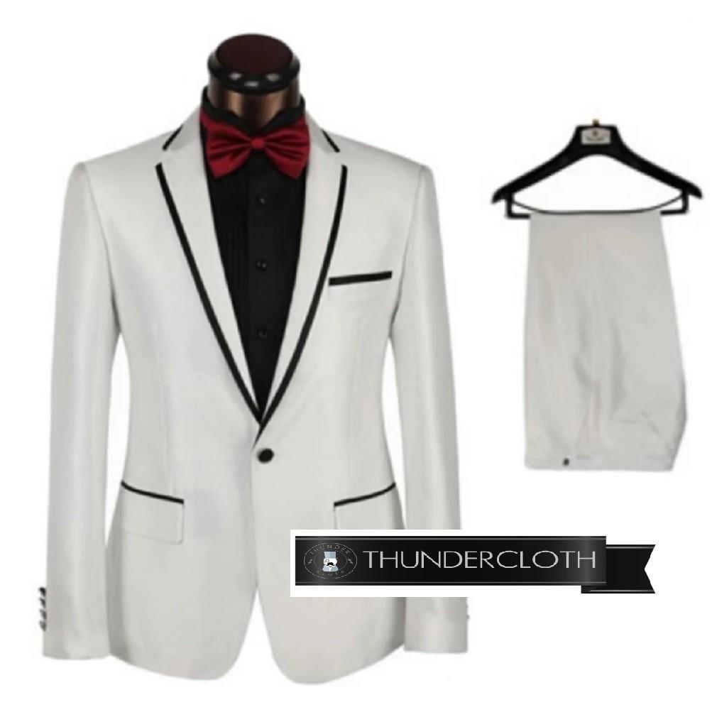 Setelan Jas Pria - Setelan Jas Pengantin Warna Putih - Setelan Jas Stylish  -Setelan Jas Slimfit