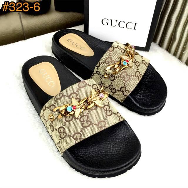 e3fc8b718229 333-2 3 gucci satin slide web bow casually sandals ss18