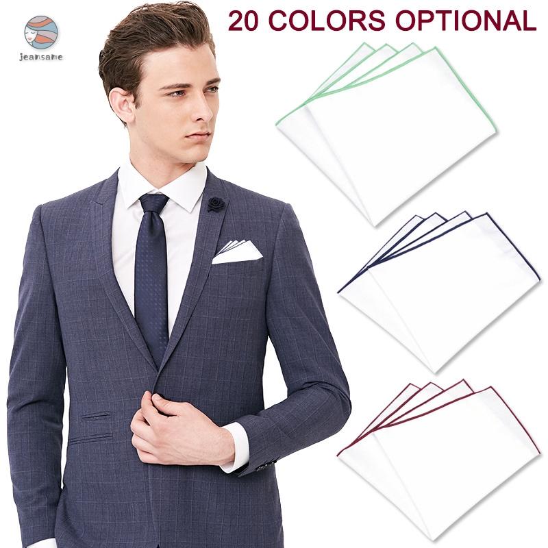 Fashion Cotton Formal Suit Pocket Square Handkerchief Hanky Wedding Dress Party