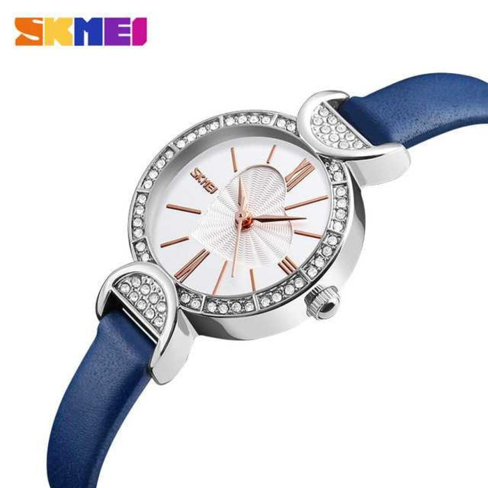 Jam Tangan Wanita Simple Love SKMEI 9085 Original Anti Air - Biru Muda | Shopee Indonesia