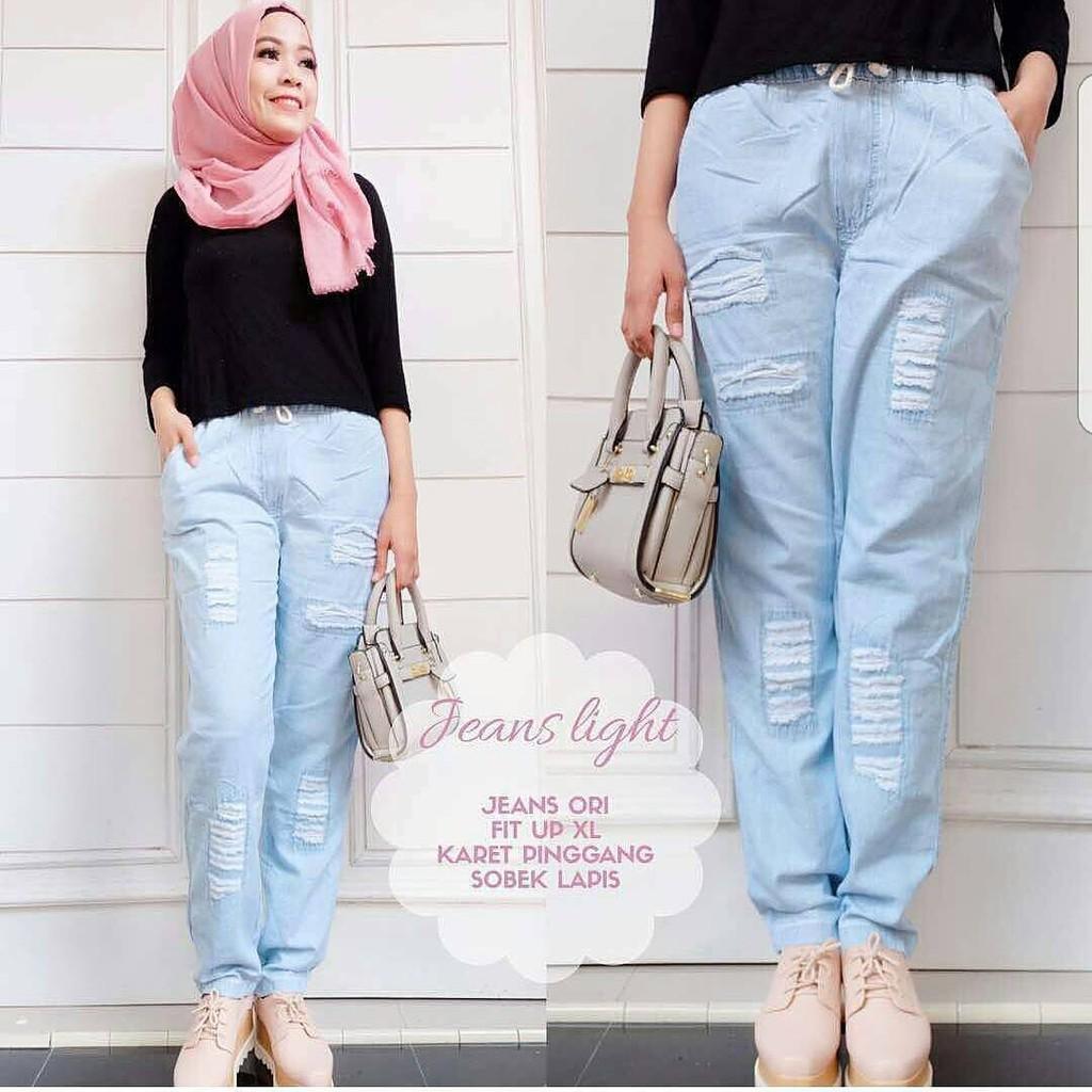 S 2730 sienna destroy lapis celana wanita 0149 qjs fashion perempuan jeans perempu CEWEK MURAH M1B6 | Shopee Indonesia