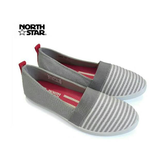 ORIGINAL NORTH STAR 2 9344 Sepatu Canvas Slip On Flat Shoes Casual Wanita -  Abu   Navy bb2c956036