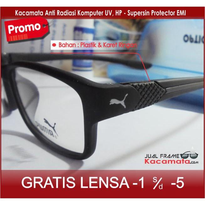 Kacamata Puma Sporty + Lensa Minus Antiradiasi 8b33880309