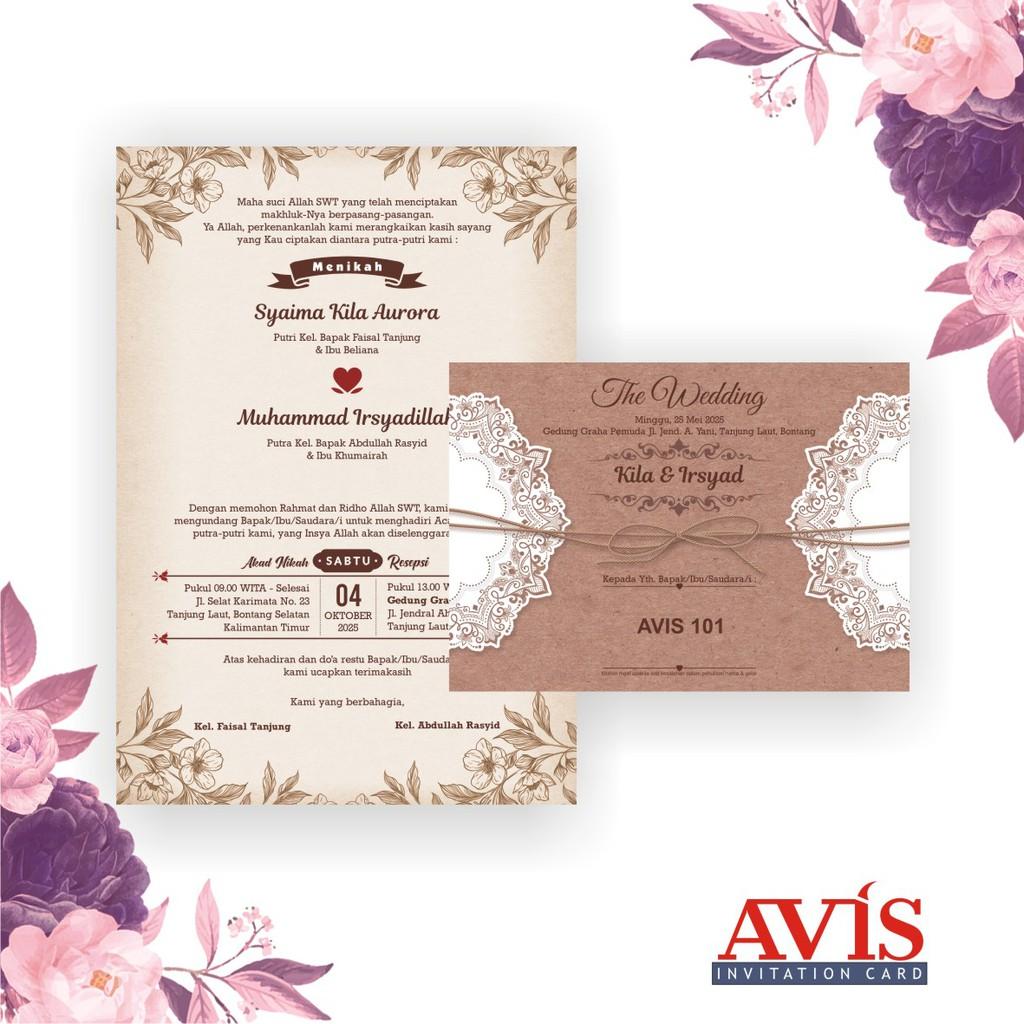 Blangko Kartu Undangan Pernikahan Terbaru Avis 20Harga Termurah ...