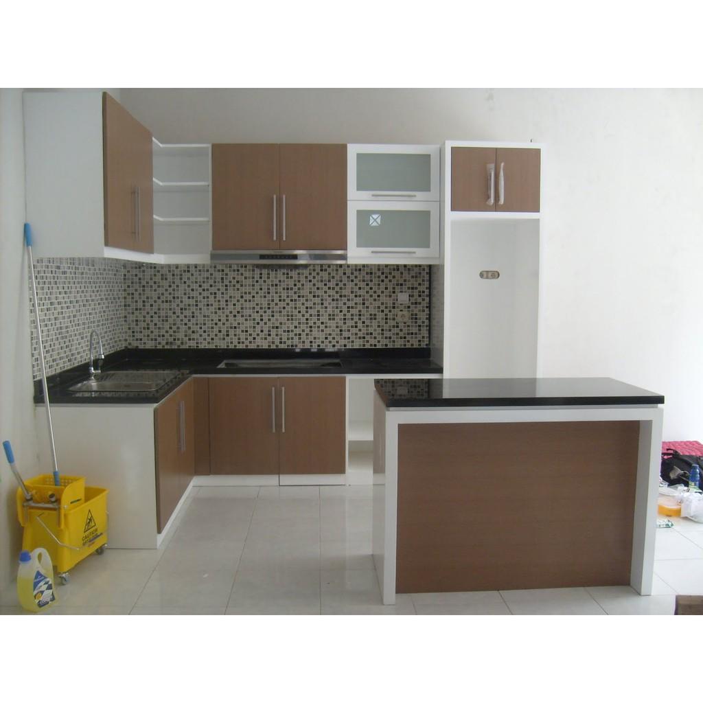 Harga Kitchen Set Multiplek Hpl Minimalis Termurah Jepara Shopee