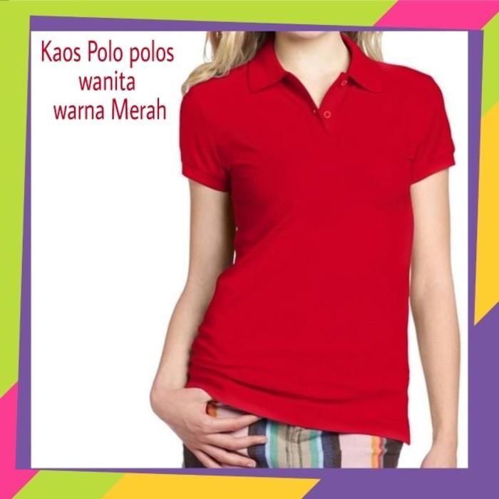 Kaos Kerah Polos Wanita Warna Merah - Kaos Polo Polos Merah | Shopee Indonesia