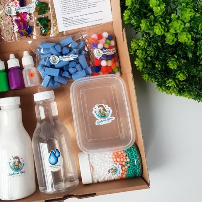 ☀ DIY Mini Slime Kit by Landseries Slime | Bahan Slime ❈