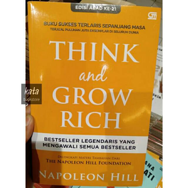 Buku THINK AND GROW RICH - Napoleon Hill | Shopee Indonesia
