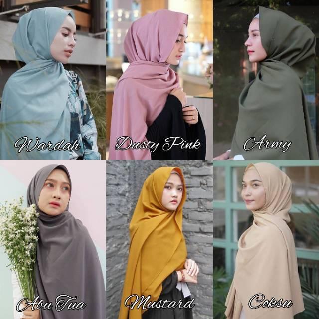 Kerudung Hijab Jilbab Pashmina Diamond Italiano Pashmina Nissa Sabyan Diamond Crepe 170 75 Cm Shopee Indonesia