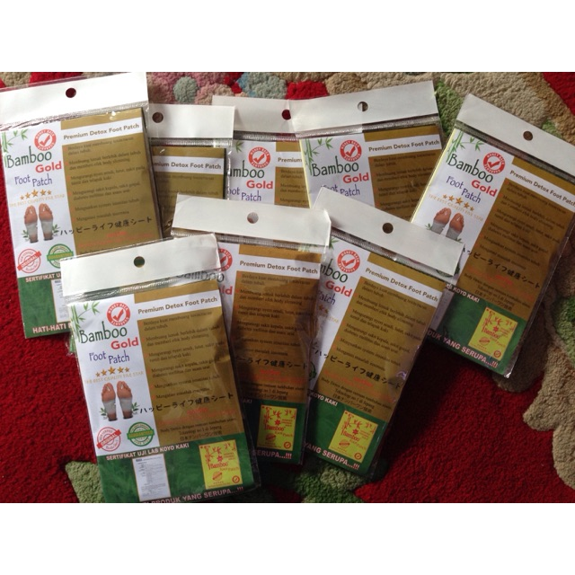 Bamboo Gold Foot Patch - 5 Pasang Premium Detox Foot Patch | Shopee Indonesia
