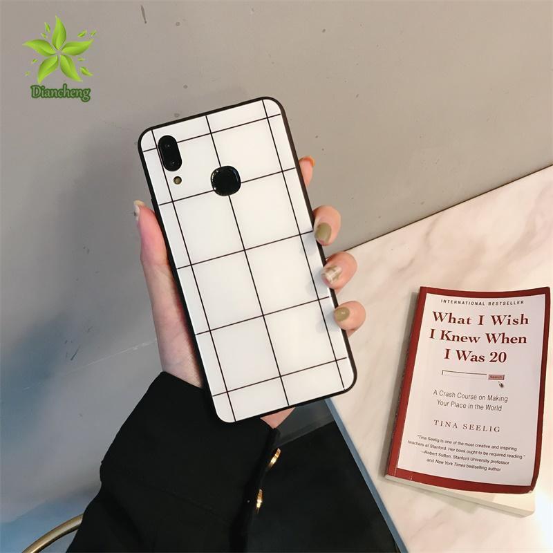 🍀OPPO A7 Grid Hard Case OPPO R15X(K1) V11i(Z3 Z3i) Android Fashion Cover
