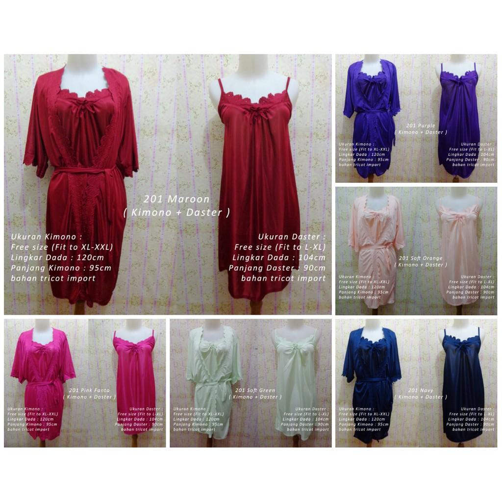 Baju Tidur Wanita Celana Panjang Kimono High Quality Silk Satin 013 ... 71804c4029