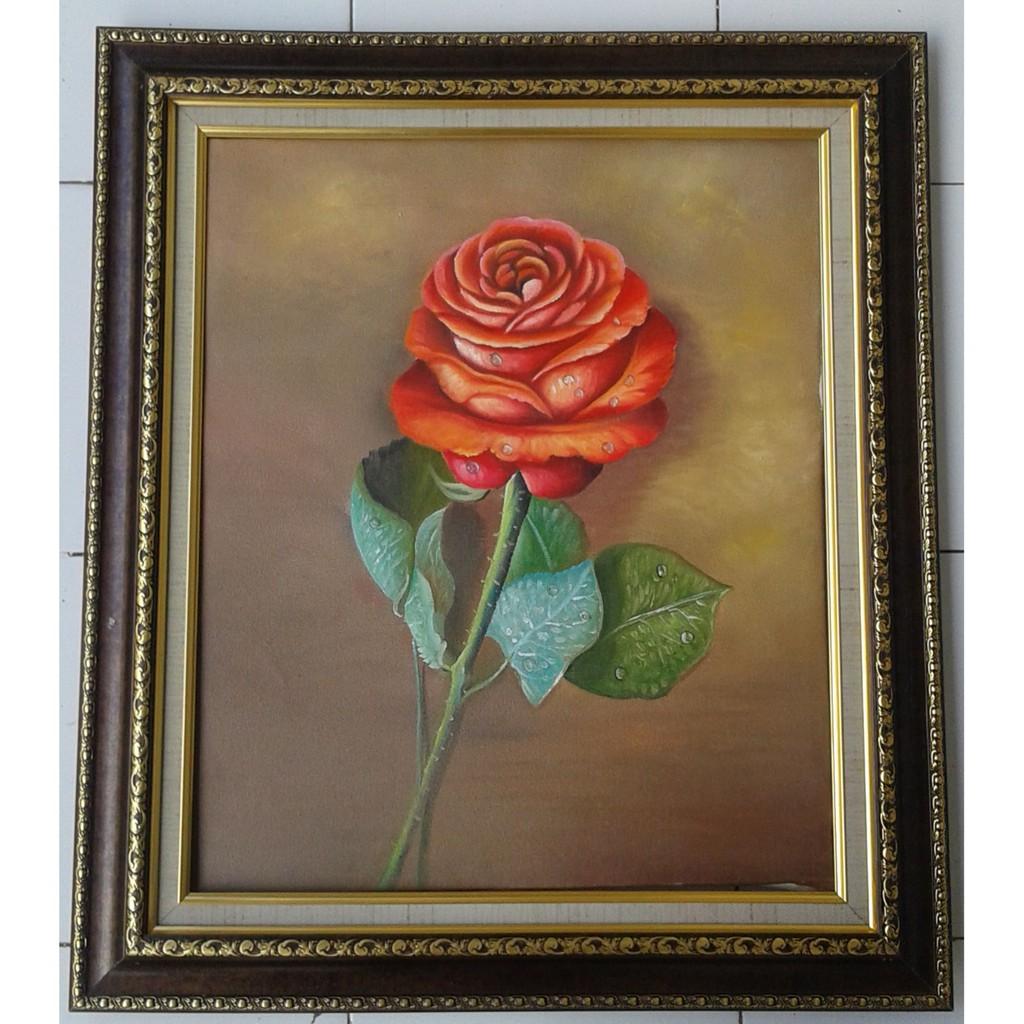 Lukisan Bunga Mawar Shopee Indonesia