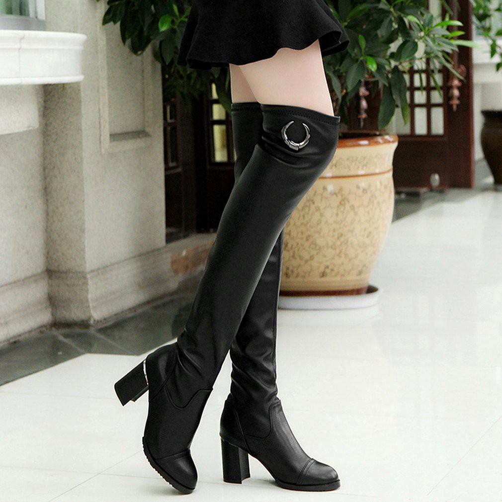 Sepatu Boot Wanita Heel Tan2 Update Harga Terkini Dan Terlengkap High Heels Ls09 M Bayar Di Tempatsepatu Boots Selutut Bahan Kulit Pu Gaya Eropa
