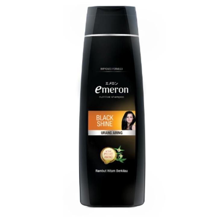 Emeron Shampoo Black Shine Botol 340ml-2