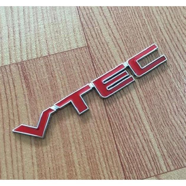3D Red Metal VTEC Car Logo Letter Sticker Auto Chrome Decal Emblem For Honda