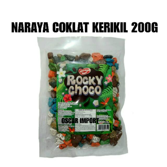 (JNE/JNT) NARAYA COKLAT KERIKIL ROCKY CHOCO 200G COKELAT