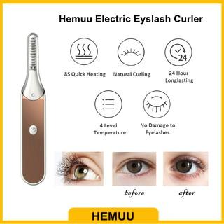 [Stok Tersedia] Hemuu Electric Eyelash Curler Penjepit Bulu Mata Listrik Tahan Lama 3D Curle Alami Suhu Adjustable USB Alat Rias Isi Ulang thumbnail