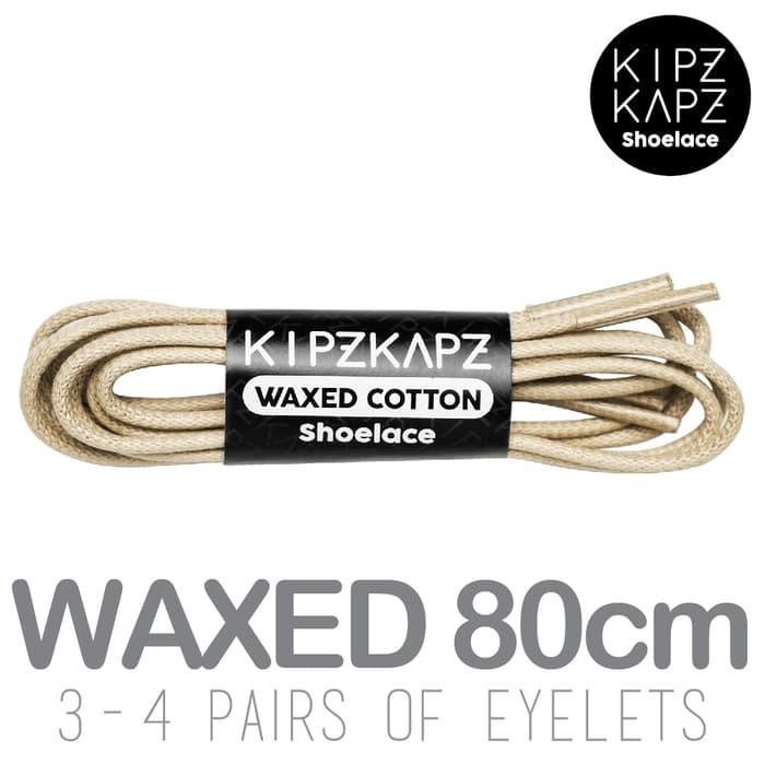 KipzKapz WS13 Blue 80cm/100cm/115cm/140cm/160cm - Tali Sepatu Lilin / Waxed Cotton Round Shoelace | Shopee Indonesia