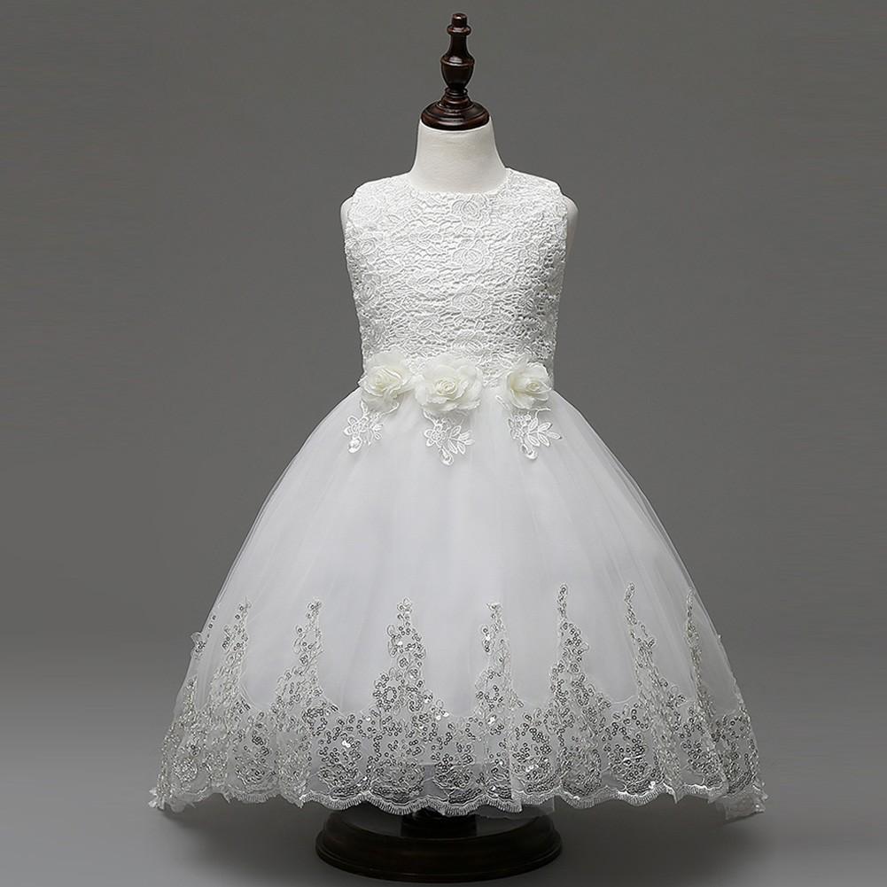 Gaun Anak Perempuan Model Putri Tanpa Lengan Dengan Bagian Belakang Memanjang