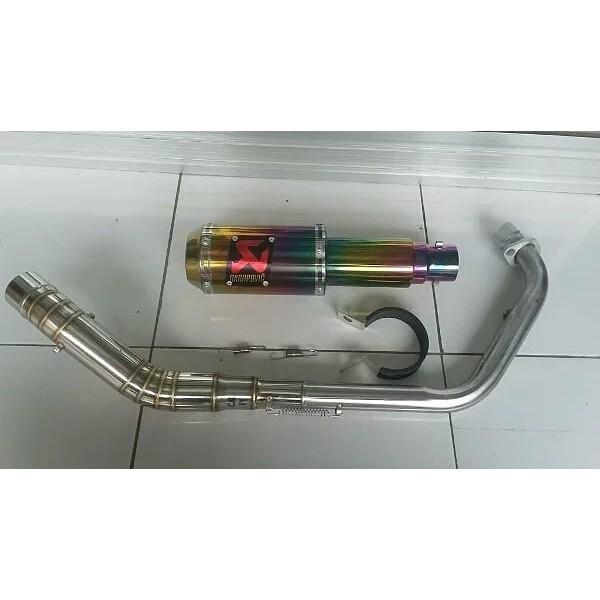 Unik Knalpot racing akrapovic R15 V3 VIXION GSX CBR150 CB150R SONIC Limited